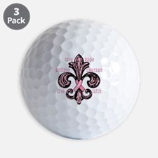 fleurPinkRibbonWdsTR Golf Ball