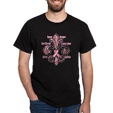 fleurPinkRibbonWdsTR T-Shirt