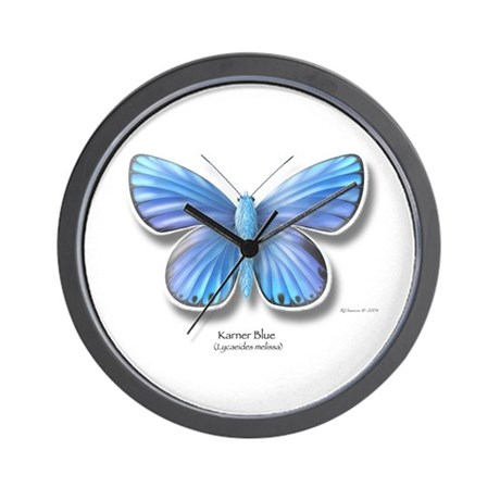 Karner Blue Wall Clock
