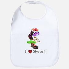 Little Girls love shoes too Bib