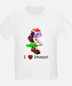 Little Girls love shoes too Kids T-Shirt