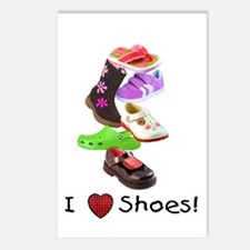 Little Girls love shoes too Postcards (Package of