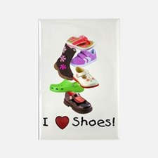 Little Girls love shoes too Rectangle Magnet (10 p