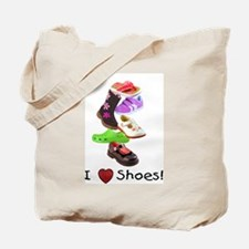 Little Girls love shoes too Tote Bag