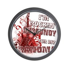 Im Rockin Burgundy for my Grandma Wall Clock