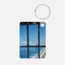 View From Q1 SkyscraperGol Keychains