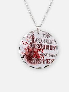Im Rockin Burgundy for my Si Necklace
