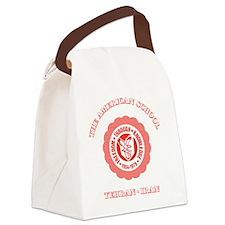 TASGolfShirtRed Canvas Lunch Bag