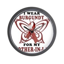 I Wear Burgundy for my Brother In Law Wall Clock