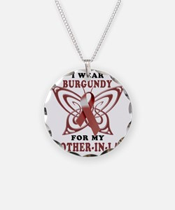 I Wear Burgundy for my Broth Necklace