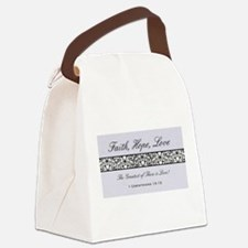 FAITH, LOVE, HOPE Canvas Lunch Bag