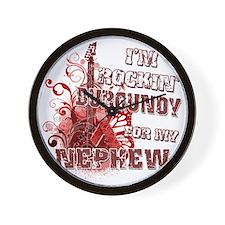 Im Rockin Burgundy for my Nephew Wall Clock