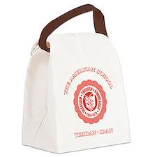TAS1ltrBottleRed Canvas Lunch Bag