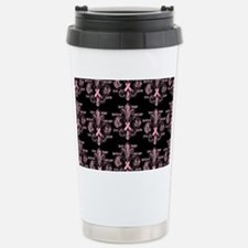 fleurPinkRibbonWBPBeBag Travel Mug