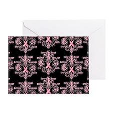fleurPinkRibbonWBPBeBag Greeting Card