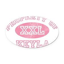 Property-of-Keyla Oval Car Magnet