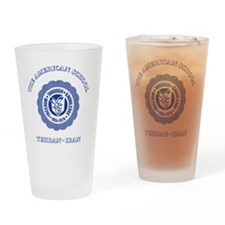TASGolfShirtBlue Drinking Glass