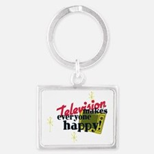 TV50sHappy Harvest Gold BLK Landscape Keychain