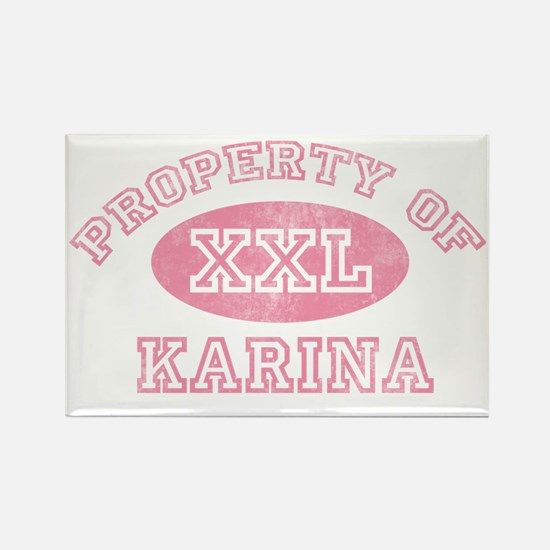 Property-of-Karina Rectangle Magnet