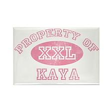 Property-of-Kaya Rectangle Magnet
