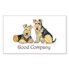 Airedale Terriers - Good Comp Sticker (Rectangular