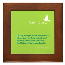Psalm 121:1-2 Framed Tile