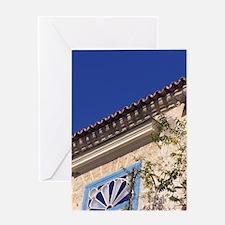 Cuba, Old Havana. Close up architect Greeting Card