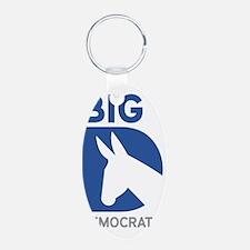 Big-D-Democrat Aluminum Oval Keychain