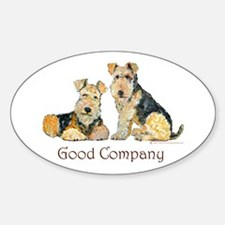 Airedale Terriers - Good Comp Oval Decal