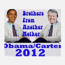 Obama Carter 2012 Throw Blanket