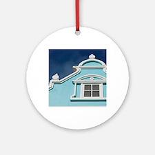 Oranjestad: Downtown Dutch Architec Round Ornament