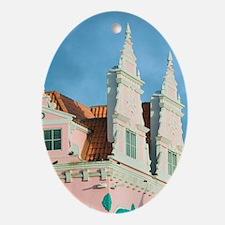 Oranjestad: Dutch Style Architecture Oval Ornament
