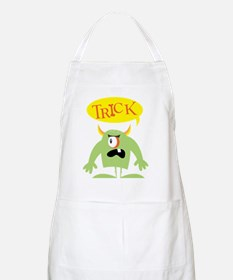 Trick Halloween,black shirts Apron