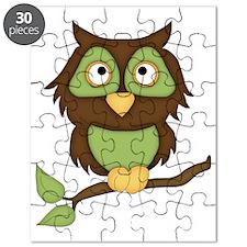 Halloween Owl-green Puzzle