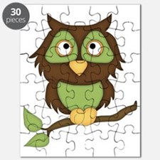 Halloween Owl-green Puzzle