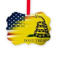 Gadsten flag merged with U.S. Ornament