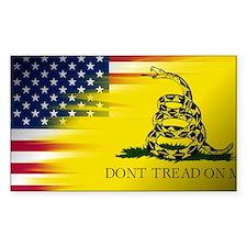 Gadsten flag merged with U.S. Decal
