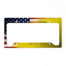 Gadsten flag merged with U.S. License Plate Holder