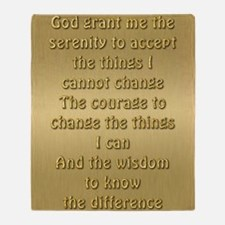 Serenity Prayer Throw Blanket