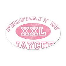 Property-of-Jaycee Oval Car Magnet