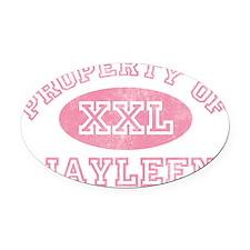 Property-of-Jayleen Oval Car Magnet