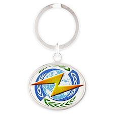 New Helic Republic Oval Keychain