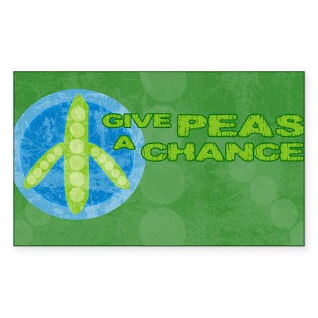 clutchPeas Sticker (Rectangle)