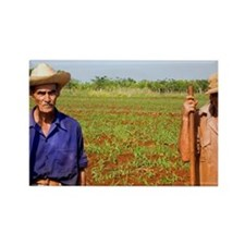 Simple farmers portait working fi Rectangle Magnet