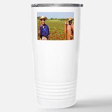 Simple farmers portait working  Travel Mug