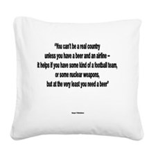You Need a Beer - Frank Zappa Square Canvas Pillow