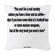 You Need a Beer - Frank Zappa Woven Throw Pillow