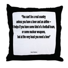 You Need a Beer - Frank Zappa Throw Pillow
