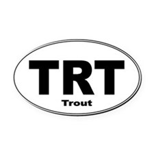 Trout Sticker Oval Car Magnet