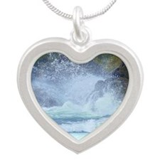 Peace from the storm Silver Heart Necklace